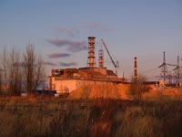 ChNPP. Installation of the new ventilation stack of the second stage of Chornobyl NPP
