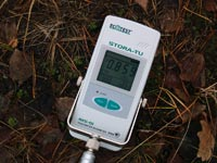 """Новая версия радиометра-дозиметра РКС-01  """"Стора-ТУ """" в режиме измерения..."""