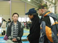 Parents of evacuated from Tomioka children