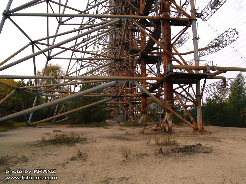 Загоризонтная радиолокационная станция Дуга (5Н32) иначе ЗРЛС Дуга-1 Чернобыль - 2 расположен в 9ти километрах от г...