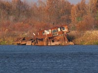 Dredger on the river Pripyat