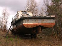 Ship in Chornobyl